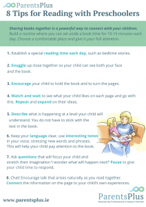 Tips for Reading with Children poster